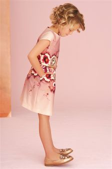 Floral Print Shift Dress (3-14yrs)