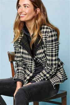 Biker Dogtooth Jacket