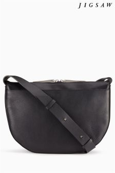 Jigsaw Black Cross Body Bag