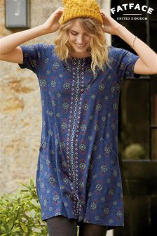 Fat Face Navy Simone Folk Geo Dress