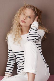 Cotton Linen Boat Sweater