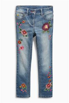 Embellished Floral Jeans (3-16yrs)