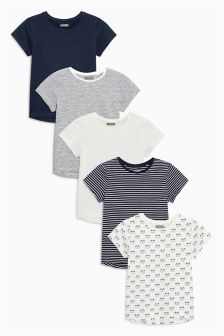 Short Sleeve Tops Five Pack (3mths-6yrs)