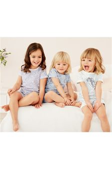 Bunny Short Pyjamas Three Pack (9mths-8yrs)