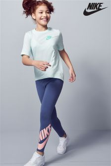 Nike Blue/Coral Legasee Legging
