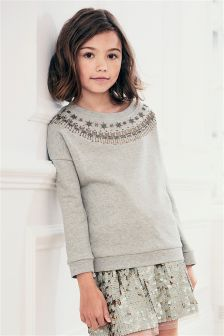 Jewel Embellished Sweat Top (3-16yrs)