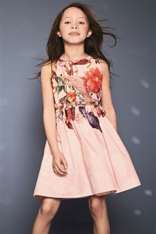Floral Belted Dress (3-14yrs)
