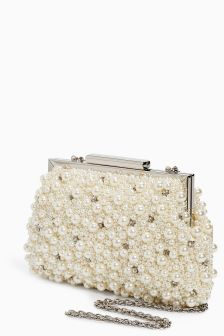 Pearl Effect Clutch Bag
