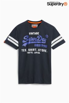 Superdry Logo Stripe Sleeve T-Shirt