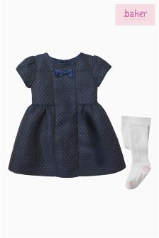 Ted Baker Navy Woven Dress