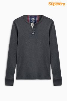 Superdry Grey Marl Henley Sweat