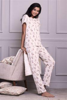 Wrapband Bunny Print Pyjamas