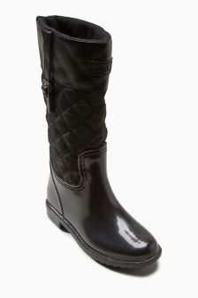 Quilted Wellington Boots (Older Girls)