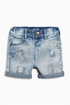 Five Pocket Denim Distressed Shorts (3mths-6yrs)