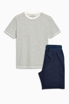 Stripe Jersey Short Set