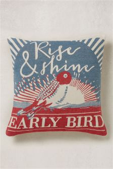 Tapestry Bird Cushion