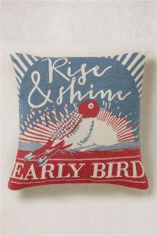 Tapestry Bird Cushion
