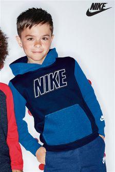 Nike Navy Club Fleece Pull Over Hoody