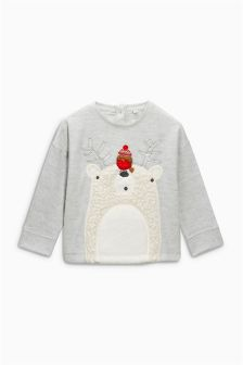 Polar Bear Christmas Jumper (3mths-6yrs)
