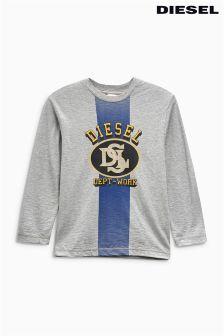 Diesel® Grey Long Sleeved Top