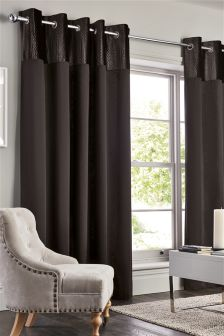 Collection Luxe Velvet Wave Eyelet Curtains