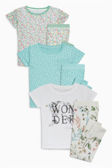 Wonder Floral Snuggle Pyjamas Three Pack (9mths-8yrs)
