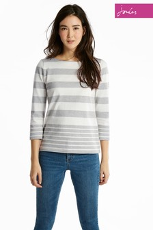Joules Grey Stripe Harbour Top