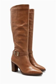 Signature Leather Long Boots
