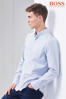 BOSS Blue/White Stripe Shirt