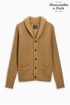 Abercrombie & Fitch Natural Shawl Neck Jumper