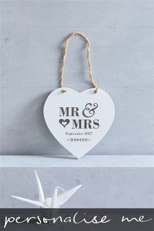 Wooden Wedding Hanging Sign Gift By Loveabode