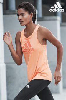 adidas Orange Logo Run Vest