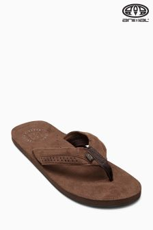 Animal Hyde Brown Microsuede Flip Flop