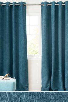Textured &Tonal Bouclé Blend Eyelet Curtains