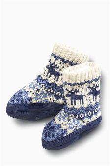 Fairisle Boot Socks (Younger Boys)