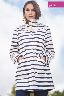 Joules Haven Navy Stripe Waterproof Hooded Jacket