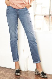 Embroidered Dragonfly Boy Fit Jeans