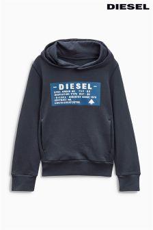 Diesel Navy Overhead Logo Hoody