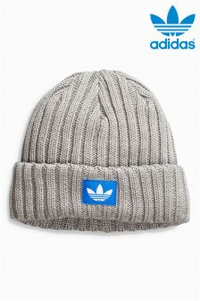 adidas Originals Grey Ribbed Beanie