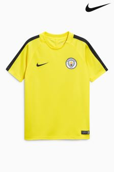 Nike Yellow Manchester City Squad Top