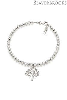 Beaverbrooks Silver Tree Charm Bracelet