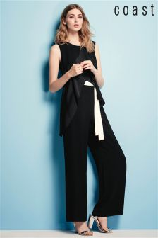 Coast Black Una Jumpsuit