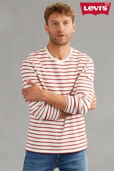 Levi's® White/Red Mission Breton Stripe Top
