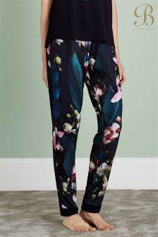 Ted Baker Navy Floral Jersey Cuffed Pyjama Pant