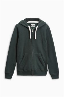 Sueded Zip Through Hoody