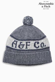 Abercrombie & Fitch Grey Logo Beanie