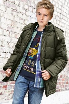 Long Line Padded Jacket (3-16yrs)