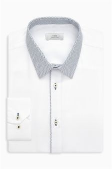 Textured Shirt With Contrast Collar