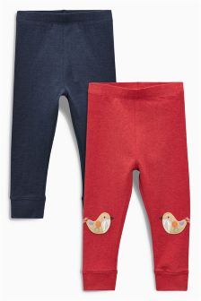 Character Embellished Leggings Two Pack (3mths-6yrs)