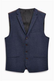 Stripe Flannel Waistcoat
